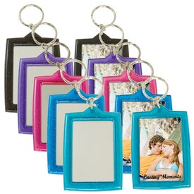 Printed Translucent Sparkle Keytag w/Mirrors
