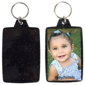 Translucent Sparkle Snap-In Keytag for Customization