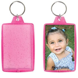 Translucent Sparkle Snap-In Keytag for Promotion
