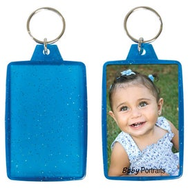 Promotional Translucent Sparkle Snap-In Keytag