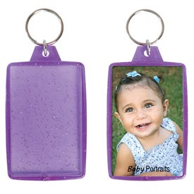 Advertising Translucent Sparkle Snap-In Keytag