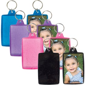Branded Translucent Sparkle Snap-In Keytag