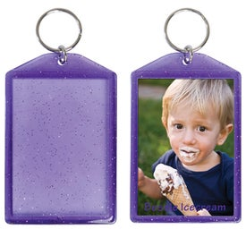 Translucent Sparkle Snap-In Keytags for Your Company