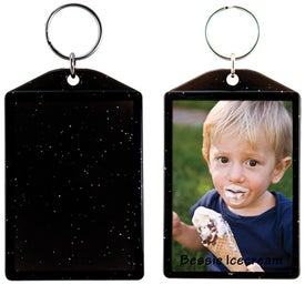 Imprinted Translucent Sparkle Snap-In Keytags