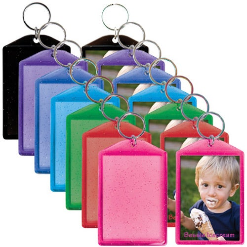 Translucent Sparkle Snap-In Keytags
