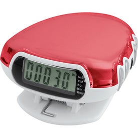 Translucent Step-n-Tune Pedometer Radio Imprinted with Your Logo