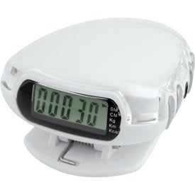 Translucent Step-n-Tune Pedometer Radio for Advertising
