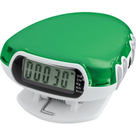 Translucent Step-n-Tune Pedometer Radio for Promotion