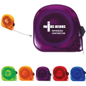 Translucent Tape Measure (10. Ft., Pad Print)