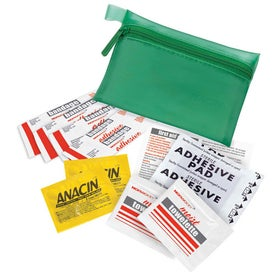 Translucent Personal First Aid Kit Imprinted with Your Logo