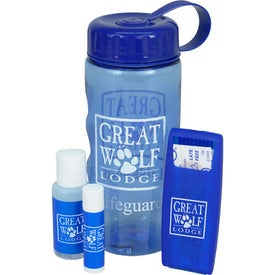 Transparent Bottle Sun Kit with Your Logo