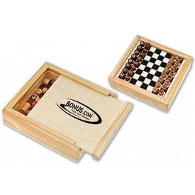 Promotional Travel Checker and Chess Set