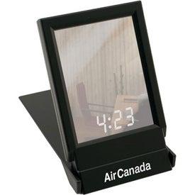 Company Travel Folding Mirror With Clock