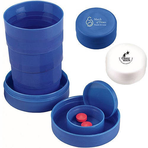 Travel Cup with Pill Compartment