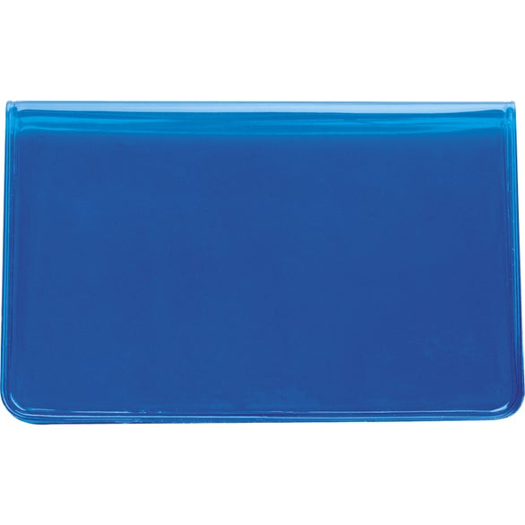 Translucent Blue Traveling Personal Care Wallet