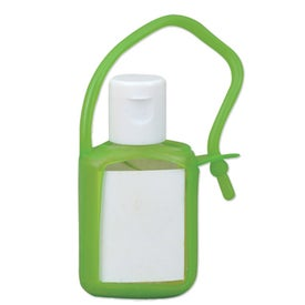 Imprinted Travel Size Gel Sanitizer in Tag Along Bottle
