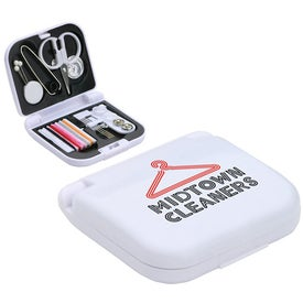 Printed Travel Sewing Kit with Mini Scissors