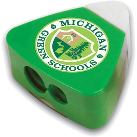 The Triad Eraser & Sharpeners Printed with Your Logo