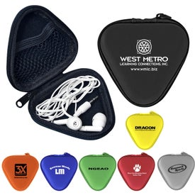 Triangle Ear Bud Set Printed with Your Logo