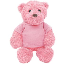 Plush Tropical Bear (Flamingo Pink)