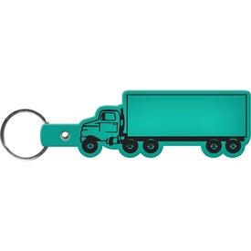 Logo Truck Key Tag