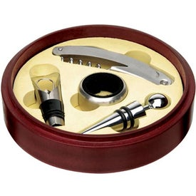 Custom Tuscany Wine Set in Circular Box