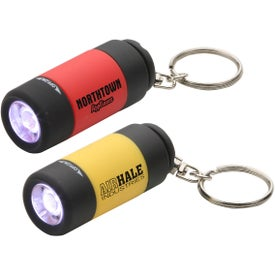 Twist Light LED Key Chain Printed with Your Logo
