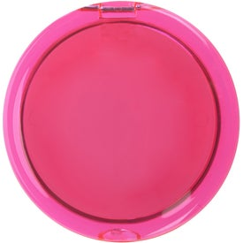 Advertising Two Sided Folding Mirror With 2x Magnifier