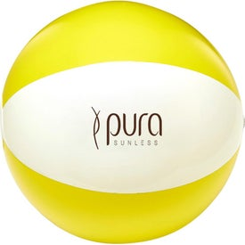 Branded Two Tone Beach Ball
