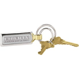 Customized Two-Tone Brass Key Tag