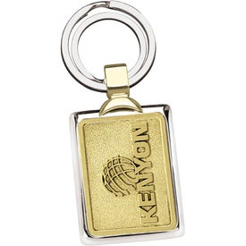 Monogrammed Two-Tone Brass Key Tag