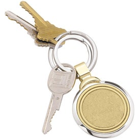 Imprinted Two-Tone Brass Key Tag