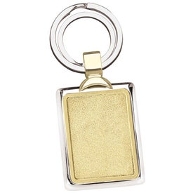 Two-Tone Brass Key Tag for your School