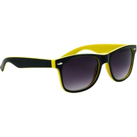 Branded Two-Tone Malibu Sunglasses