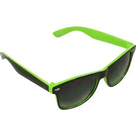 Two-Tone Malibu Sunglasses for Marketing