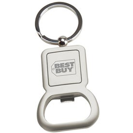 Imprinted Two Tone Metal Bottle Opener
