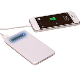 Ultra-Slim Mobile Charger with Your Slogan