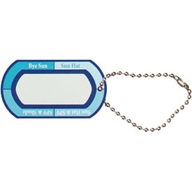 Monogrammed Ultraviolet Meter Tag Ball Chain