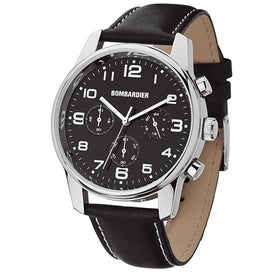 Unisex Watch with Leather Strap