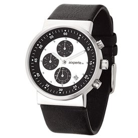 Sporty Unisex Watch with Leather Strap