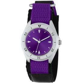 Unisex Canvas Band Double Ring Watch Printed with Your Logo