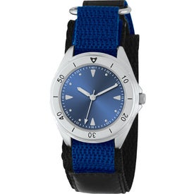 Printed Unisex Canvas Band Double Ring Watch