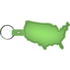 Personalized United States Keytag