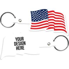 Custom U.S. Flag Key Tag