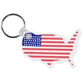 USA Key Fob with Flag Branded with Your Logo