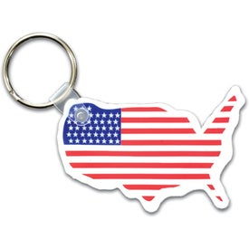 USA Key Fob with Flags