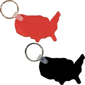 USA Key Fob with Your Slogan
