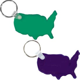 USA Key Fob Imprinted with Your Logo