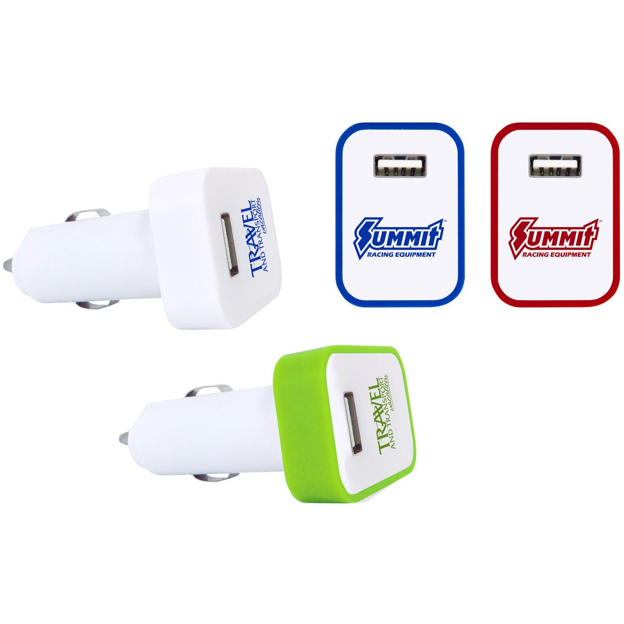 USB Car Charger with LED Light