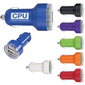 Logo USB Dual Car Charger